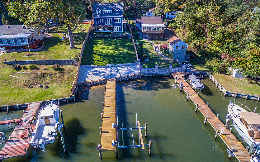 Bodkin-Creek-waterfront-aerial-waterside-2
