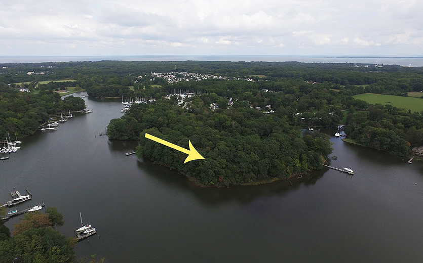 Deep-water, protected anchorage location for this 4-acre homesite
