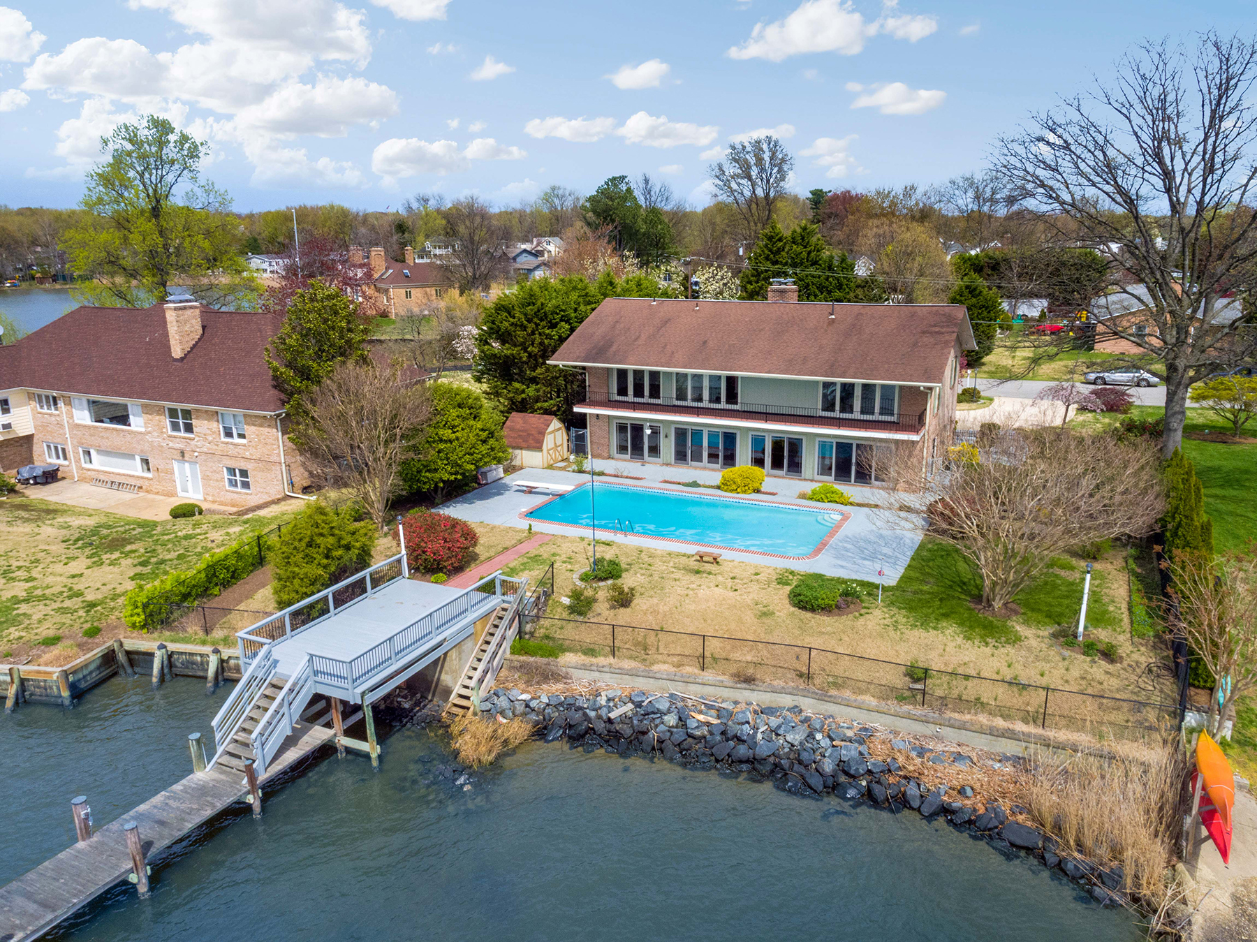 6f21f75a67bb17 622 Riverside Drive in Hillsmere Estates has the sunset water views you  dream about! Situated on .38 acres overlooking the South River