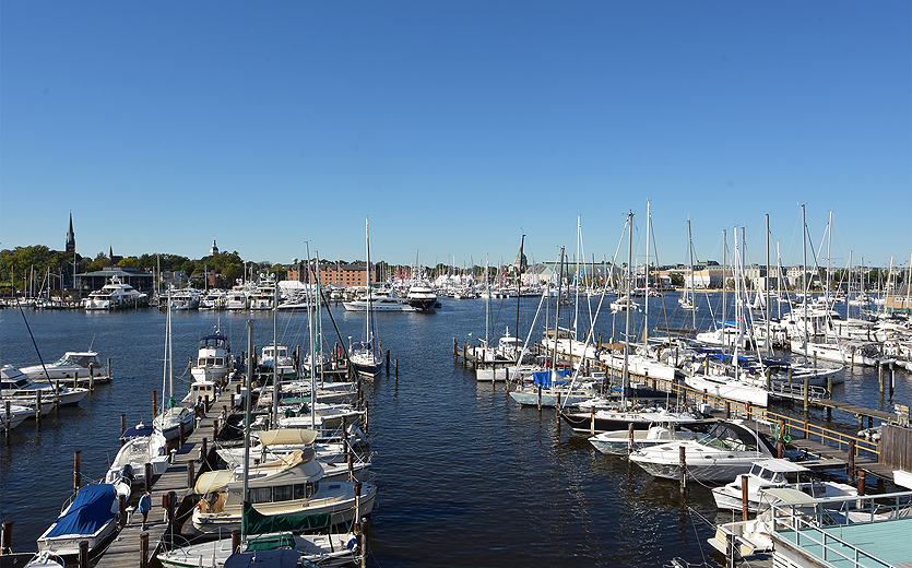 Magnificent views across to the sailboat show